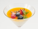 Panna Cotta with berries and Quantro fruit sauce