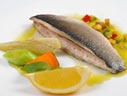Sea bass with asparagus and rosemary