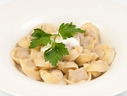 Pelmeni with sour cream