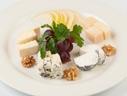 Cheese plate (homemade cheese, Gruyere, Roquefort, Parmigiano Reggiano)